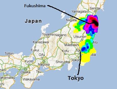 Radiation Map Fukushima Daiichi Radiation Settling Near Tokyo - Japan radiation map 2016