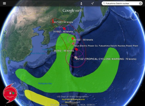 Typhoon Lionrock trajectory, rain August 29, 30 2016