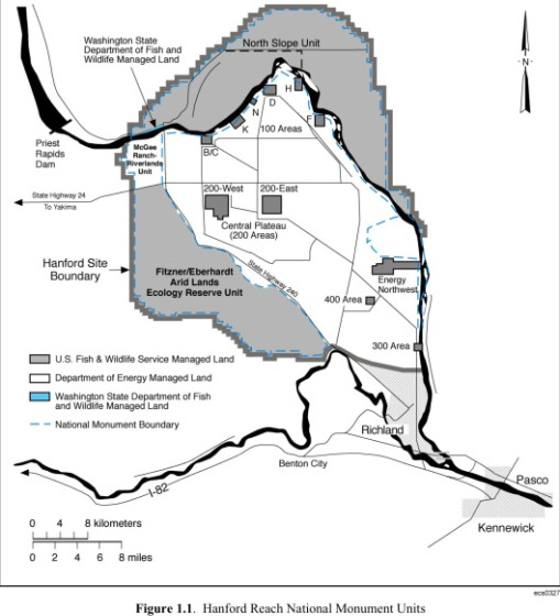 Hanford Site Map PNNL for DOE