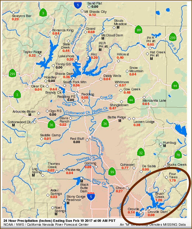 Map Of California Oroville Dam.Oroville Dam Artificial Loading Of The Watershed Up North To Flood