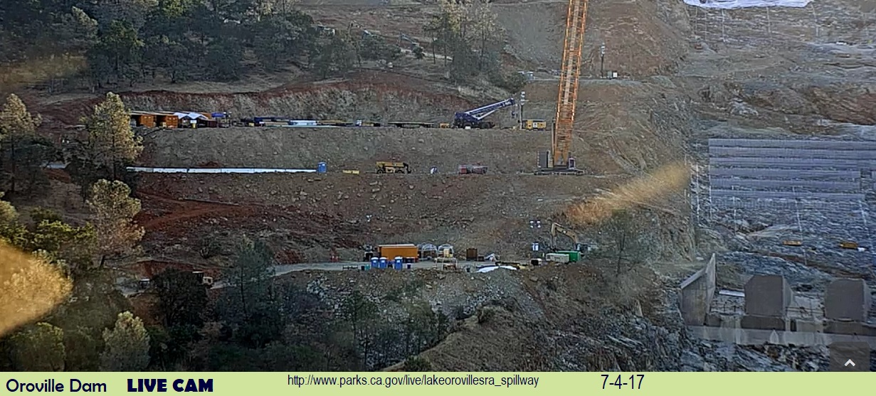 Oroville Dam – How's that snow melt in the Sierras? | flying